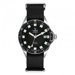 YEMA - SUPERMAN AUTOMATIQUE BLACK / SILVER / BLACK NATO