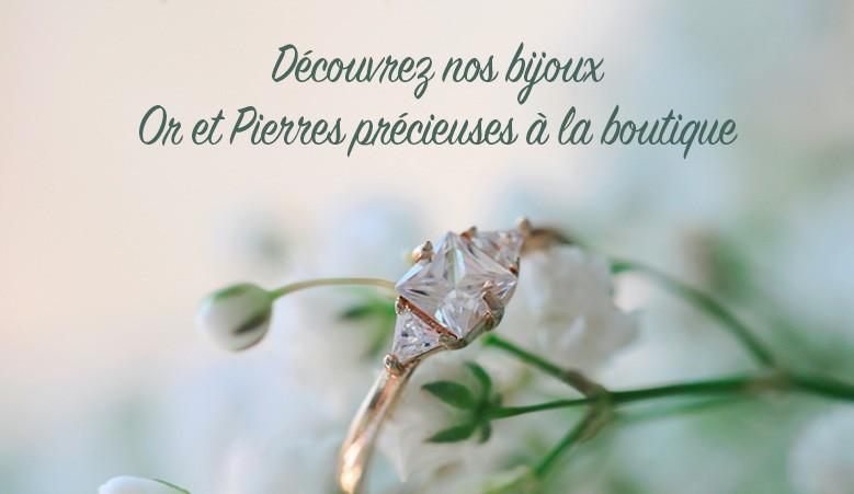 Bijoux or 18 carats et pierrres précieuses