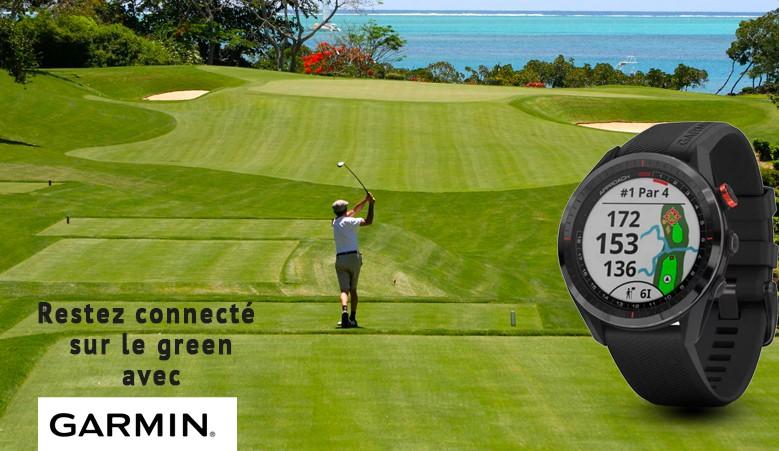 Montre Garmin golfeur